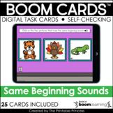 Kindergarten Boom Cards™ Same Beginning Sound {Purple Deck