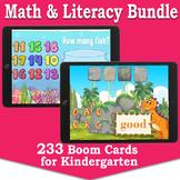 Kindergarten Boom Cards™ Bundle | Math & Literacy Task Car