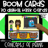 Kindergarten Boom Cards  l Concepts of Print Distance Learning