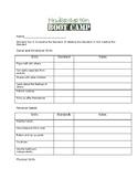Kindergarten Bootcamp Rubric