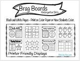 Kindergarten Brag Board Data Displays (Printer Friendly)