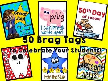 Kindergarten Brag Tags