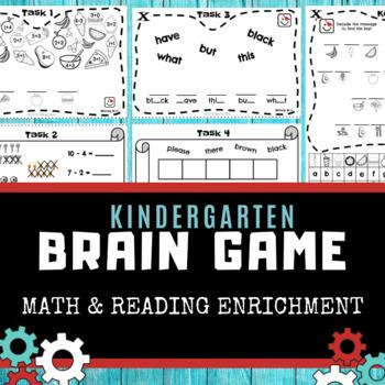 Kindergarten Brain Game (FREEBIE) - Reading and Math Enrichment