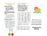 Kindergarten Brochure What Your Child Needs to Know ELA