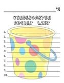 Kindergarten Bucket List