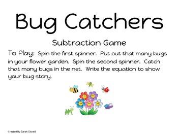 Kindergarten Bug Catchers Subtraction Game