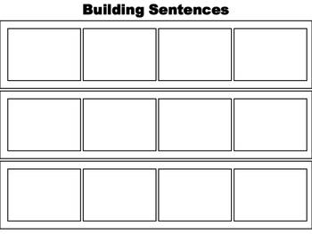 Kindergarten Building Sentences Activity