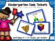 Kindergarten Mini Bundle: Geometry: Task Tickets (Differentiated)