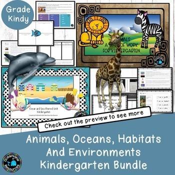 Ocean life/sea and Animal unit bundleKindergarten