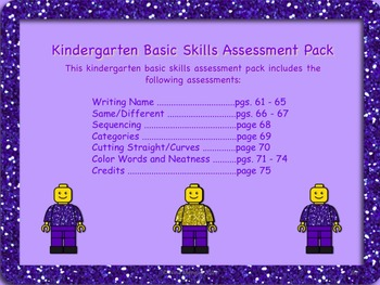 Kindergarten Bundled Assessment Pack  - Back to School and Use All Year Long!