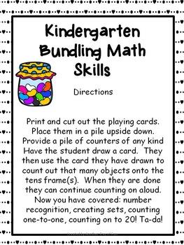 Kindergarten Bundling Math Skills