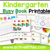 Kindergarten Busy Book Activity Binder Learning Folder