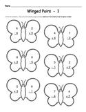 Kindergarten Butterfly Math  -  Addition & Subtraction Worksheets