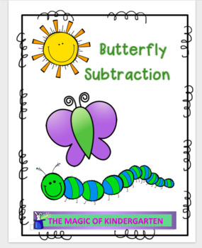 Kindergarten Butterfly Subtraction