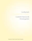 Kindergarten CA Common Core Content Standards for ELA and