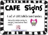 Kindergarten CAFE Signs