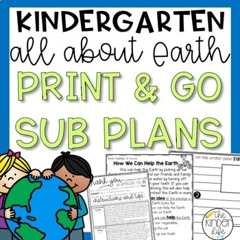 "Kindergarten C.C. Aligned April ""Earth"" Print & Go Sub Pla"