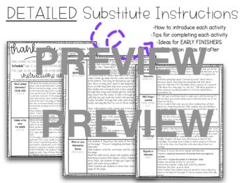 "Kindergarten C.C. Aligned Dec ""Hibernate"" Print & Go Sub Plans+Editable Sub Info"