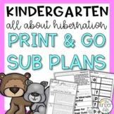 Kindergarten Emergency Sub Plans December Hibernation