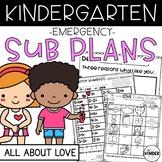 Kindergarten Sub Plans February Love C.C. Aligned + Editable Sub Info Binder