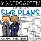 Presidents Day Kindergarten Sub Plans February + Editable Sub Info