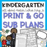 Martin Luther King Jr Kindergarten Sub Plans January