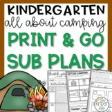 Kindergarten Emergency June Sub Plans Camping
