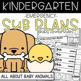 Spring Kindergarten Sub Plans Baby Animals March