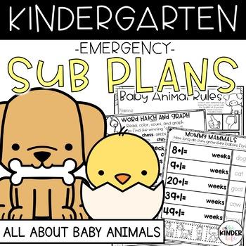 """Kindergarten C.C. Aligned March """"Baby Animals"""" Print & Go"""