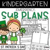 Kindergarten Sub Plans March St. Patrick's Day