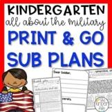 Kindergarten Sub Plans May Memorial Day  C.C. Aligned + Editable Sub Info Binder