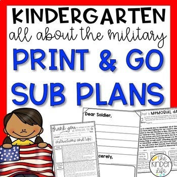Memorial Day Military Kindergarten Sub Plans
