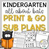 Kindergarten Bats Sub Plans October