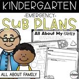 Kindergarten Sub Plans September Family C.C. Aligned Sub Plans Editable Sub Info