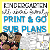 Kindergarten September Sub Plans Family