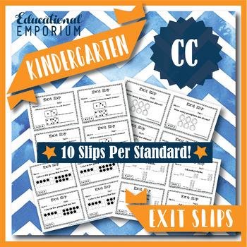 Kindergarten CC Exit Slips: Counting & Cardinality Exit Tickets Kindergarten