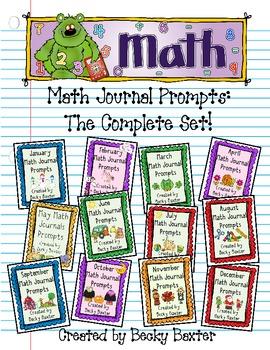 Kindergarten C.C. Math Journal Prompts- the Complete Set
