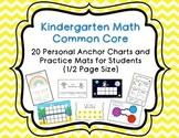 Kindergarten CC Math Personal Anchor Charts & Activity Mats
