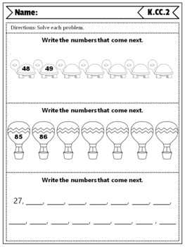 Kindergarten CC Quizzes: Counting & Cardinality Quizzes, Kindergarten Math Quiz