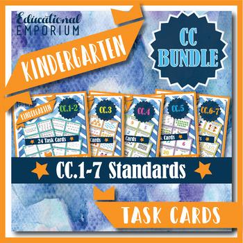 Kindergarten CC Task Cards: Counting & Cardinality Task Cards, K.CC Centers