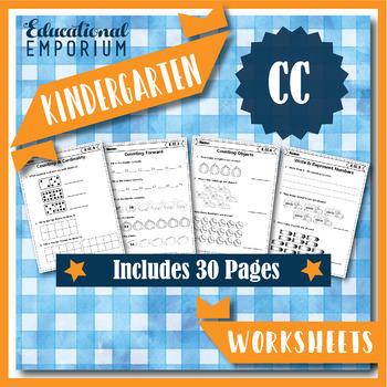 Kindergarten CC Worksheets: Counting & Cardinality Worksheets, Kindergarten