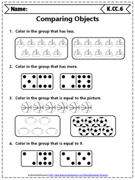 Kindergarten CC Worksheets: Counting & Cardinality Worksheets, Kindergarten