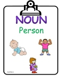 Kindergarten CCGPS Nouns and Verbs Wall Cards