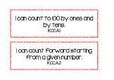 "Kindergarten CCSS ""I Can"" Statements - Math"