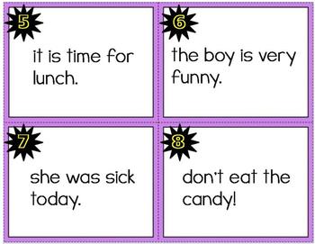 Kindergarten CCSS Language Arts - Using Correct Capitalization Task Cards Sample