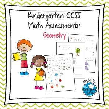 Kindergarten CCSS Math Assessments: Geometry