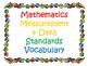 Kindergarten CCSS Math Vocabulary Card Set 2