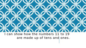 "Kindergarten CCSS Numbers Base Ten Standards in ""I Can"" statements"
