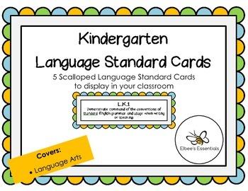 Kindergarten CCSS Sea Scalloped Cards