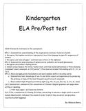 Kindergarten CCSS aligned Pre/Post test